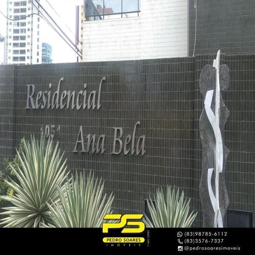 Apartamento Com 4 Dormitórios À Venda, 215 M² Por R$ 850.000,00 - Manaíra - João Pessoa/pb - Ap3737