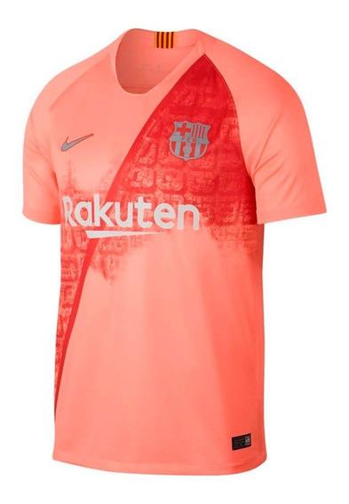 Camiseta Barcelona Nike Breathe Stadium Original Rosa Adulto