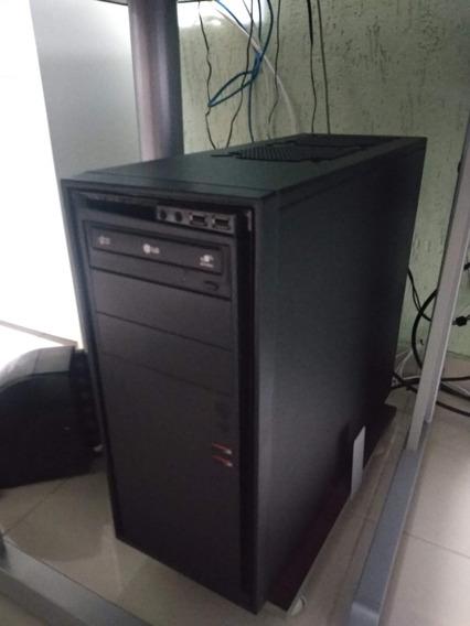 Computador Desktop Com Monitor, Teclado E Impressora