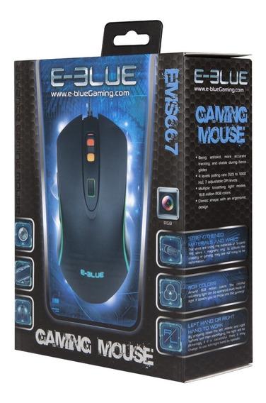 Kit Mouse Gamer Rgb Ems667 E Mouse Pad Emp011bk E-blue