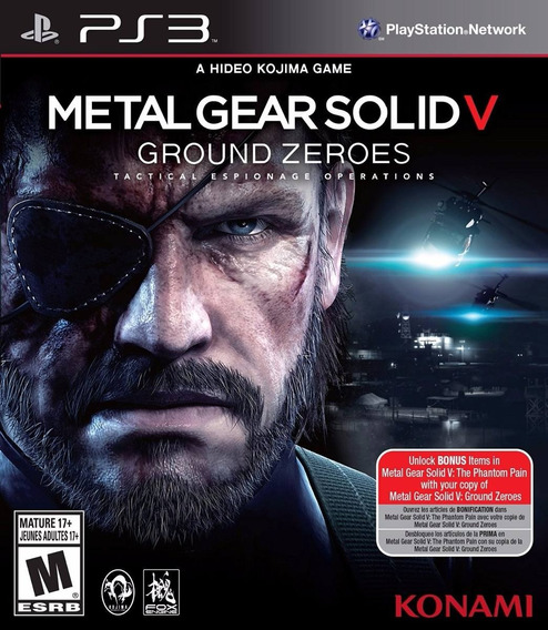 Jogo Metal Gear Solid V Ground Zeroes Ps3 Game Mídia Física