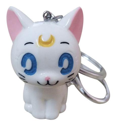 Anime Llavero Sailor Moon Artemis Gato Blanco Plastico Lindo