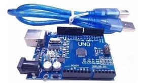 Arduino Uno Rev3 R3 Atmega328 Smd Ch340 Com Cabo Usb + Pinos