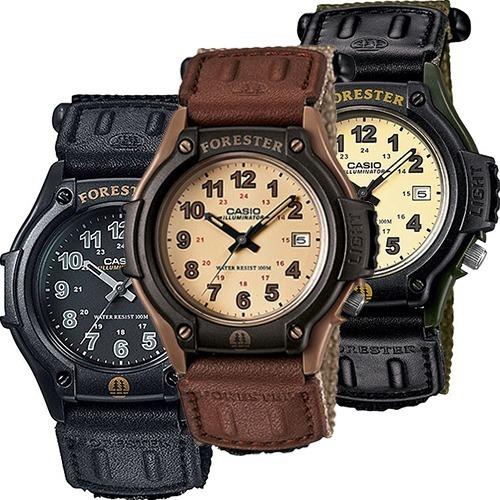 Reloj Casio Forester Ft500 Negro Extensible Lona - Fechador