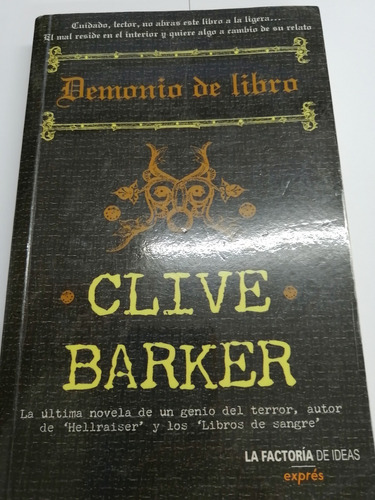 Demonio De Libro Clive Barker Mercado Libre