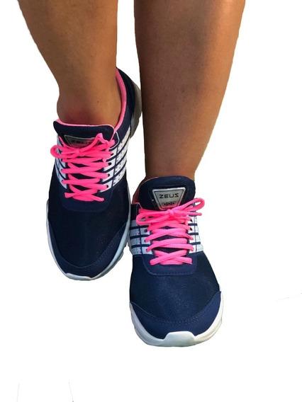 Tênis Feminino Zeus Leve E Confortável Caminhada Corrida
