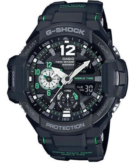 Reloj Casio Ga-1100-1a3 G-shock Protection Gravitymaster Ngo