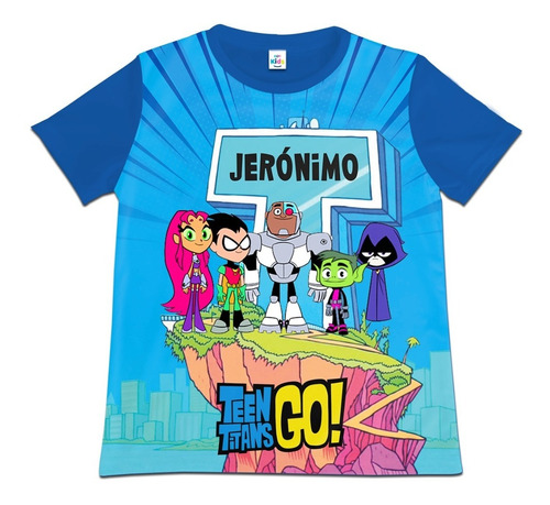 Camiseta Camisa Niño Teen Titans Go Personalizada Algodon