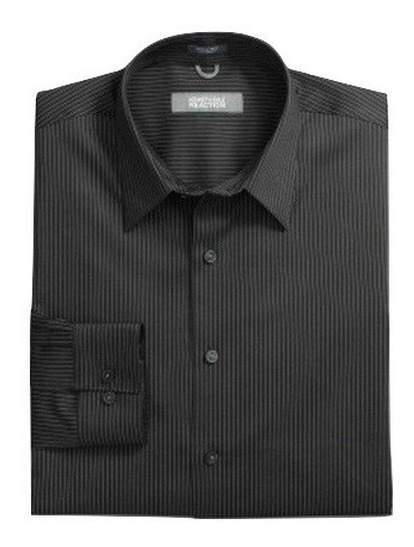 S, M - Camisa Kenneth Cole Negra C11kc Ropa Hombre Original