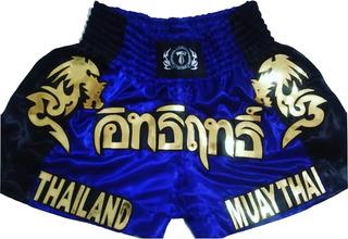 Shorts Calçao Muay Thai (t.f.wear) Azul/pre Ref.32