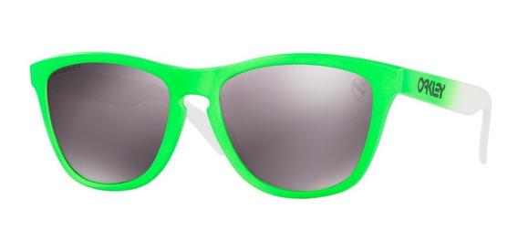 Óculos Oakley Frogskins Green Fade Prizm Daily Polarizado
