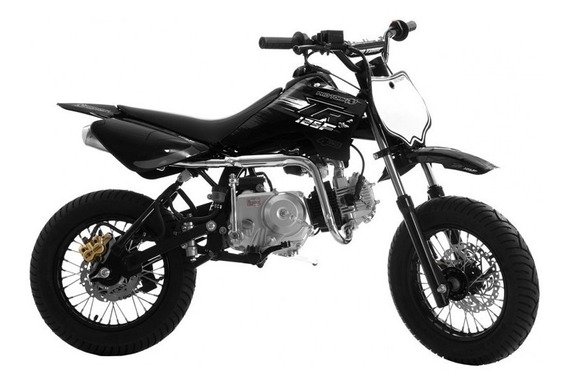 Mini Moto Pro Tork Tr125 F Supermotard Black Preta