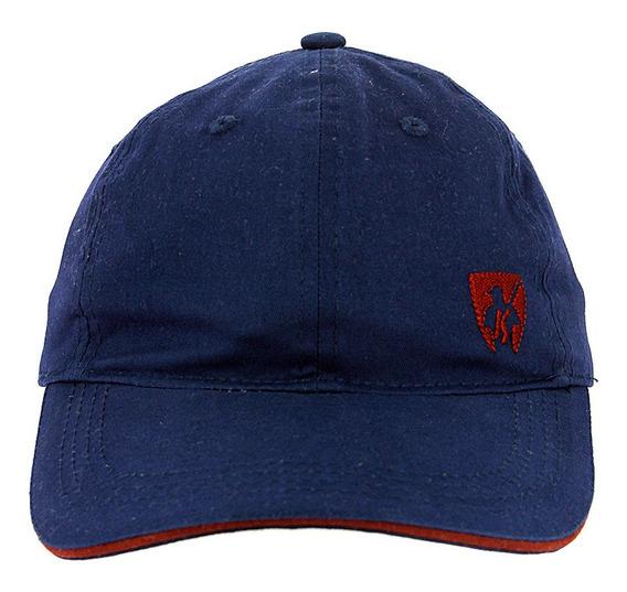Boné Chapéu Ks Azul Com Aba Curva Ajustável Original