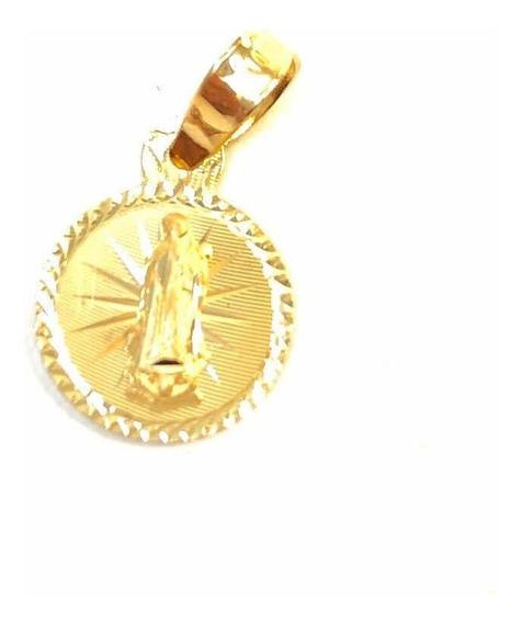 Dije Medalla De Oro 10k Virgen Joya