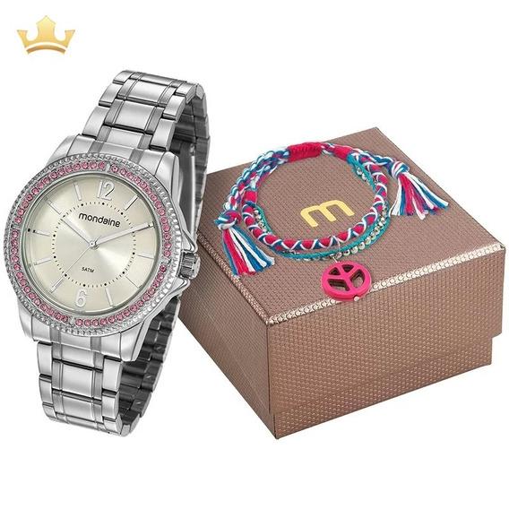 Kit Relógio Mondaine Feminino C Com Nf