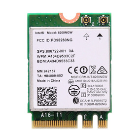 Placa De Rede Wifi/bluetooth - M.2 Ngff - Intel Wireless-ac