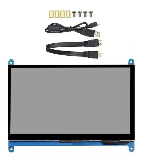 Tela Lcd Touch Hdmi 7 1024x600 Raspberry Pi 3 B B+ Plus