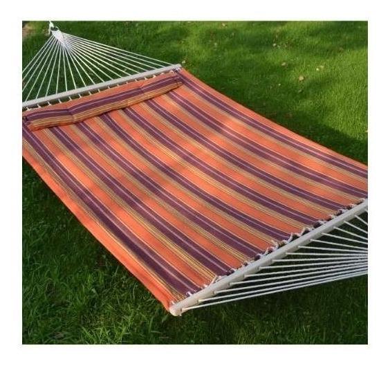 Hamaca Double Size Fabric Cama Para Dormir Resistente W / Pi