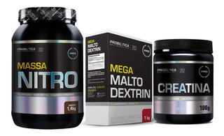 Kit Suplementos Probiotica Massa Nitro + Malto + Creatina