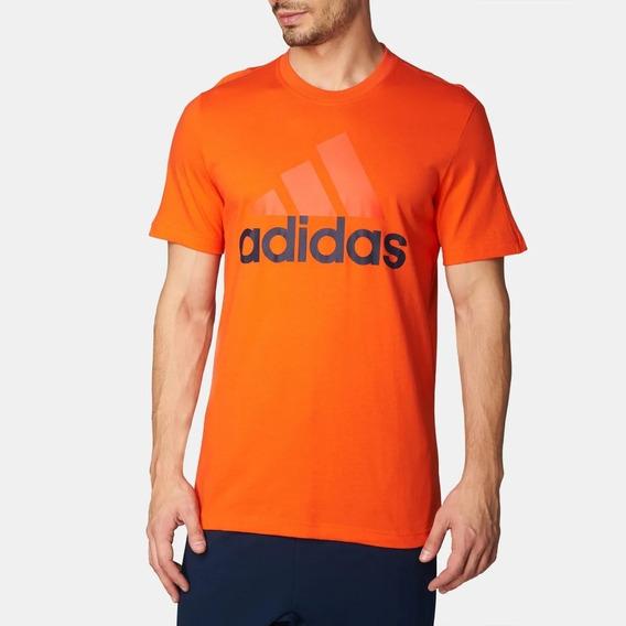 Playera adidas Ess Linear Tee S98736 Hombre Color Naranja