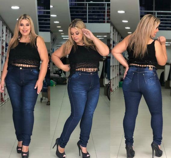 Calça Jeans Feminina Skinny Plus Size Empina Bumbum 2009