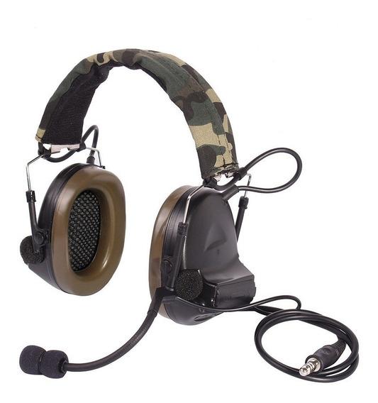 Headset Z Tac Comtac Ii Z041 - Preto, Tan E Verde - Airsoft