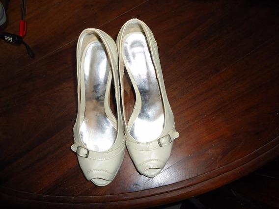 Zapatos De Vestir Color Nude Un Solo Uso Numero 37
