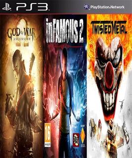 God Of War Ascension & Infamous 2 & Twiste Metal Digital Ps3