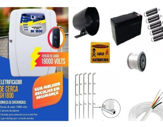 Kit Cerca Elétrica Para 50 Metros Com Bateria