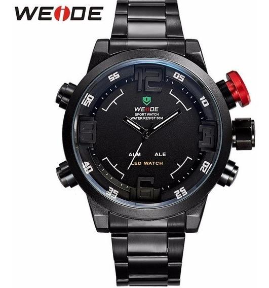 Relógio Militar Masculino Marca Weide, Relógio De Quartzo