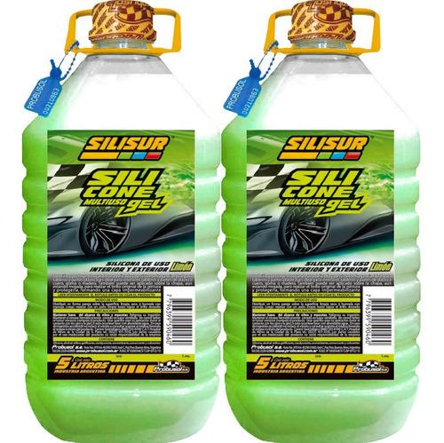 Silisur Carwash Silicona Gel Limón 5lts Pack 2u. Autos