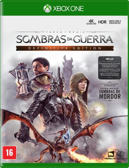 Jogo Sombras Da Guerra Xbox One Mídia Física Novo Nacional