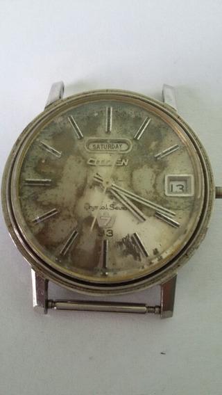 Relógio Antigo Citizen Crystal Seven 7 33 Raridade (1518m)