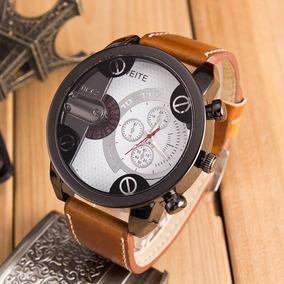 Relógio Masculino Pulseira De Couro Fashion Melhor Preço