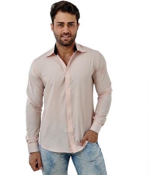 Camisa Social Masculina Baratas Slim Revenda Promoção Verão