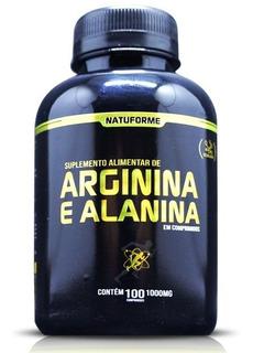 Arginina + Alanina 100caps 1000mg No2 Oxido Nitrico
