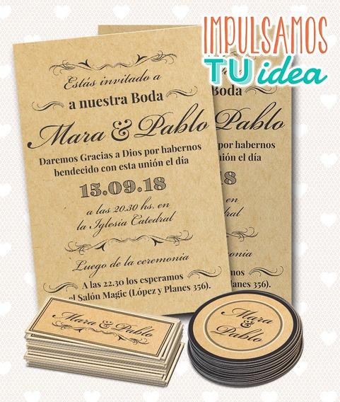 Tarjeta De Boda Vintage Para Imprimir