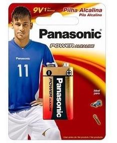 Bateria 9v Alcalina 6lf22xab Panasonic Kit Com 2 Unidades