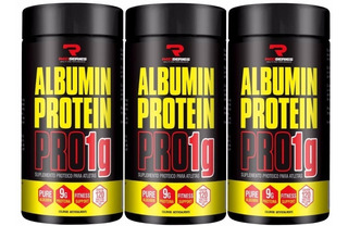 Kit Com 3 - Albumin Protein Pro 1g - Red Series - 120 Caps