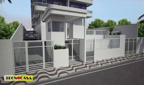 Excelente Apartamento Com 02 Dormitórios Para Venda Com  75 M² No Bairro Canto Do Forte Em Praia Grande/sp. - Ap6556