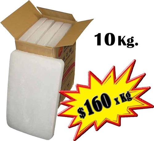 Parafina 10 Kg Ideal Para Fabricación Velas Velones Kilo