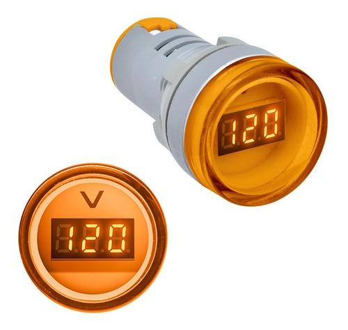 Voltimetro Digital 60-500v Ac 22mm Ad16 Ip65 Amarillo Piloto