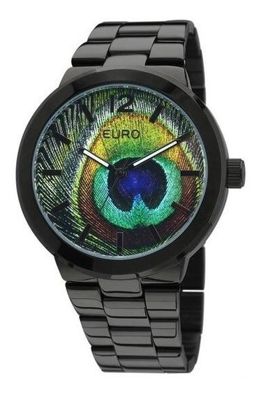 Relógio Euro Feminino Eu2036lzv/4v - Preto