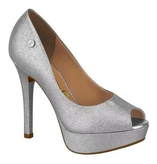 Sapato Feminino De Festa Vizzano Prata Dourado Salto Fino