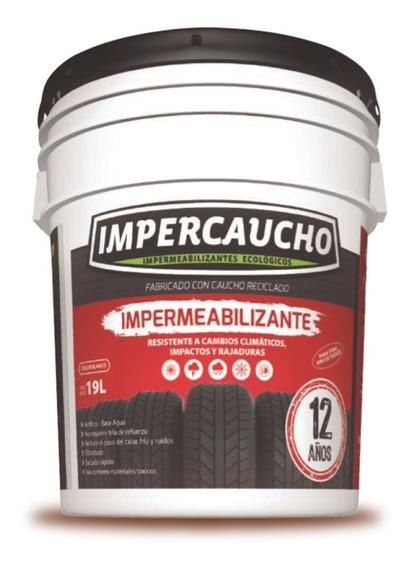 Impermeabilizante Impercaucho Aplicacion Techo 12 Años 19 Lt