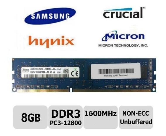 Memoria Ram 8gb Pc3-12800 Ddr3 1600mhz Dimm