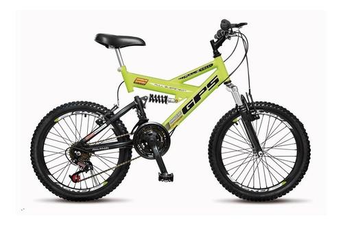 Bicicleta Colli 310 Aro 20 21 Marchas Fulls Gps Dupla Suspen