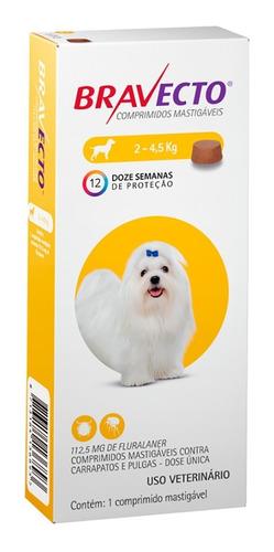 Antipulgas Bravecto De 2 A 4,5 Kg - Original Com Nota Fiscal