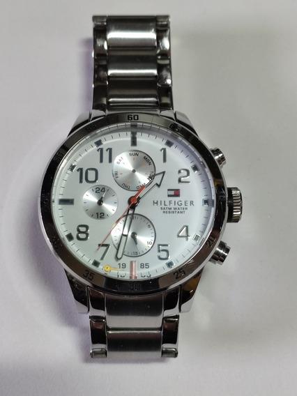 Relógio De Pulso Tommy Hilfiger Social Em Aço Inox - Leia*