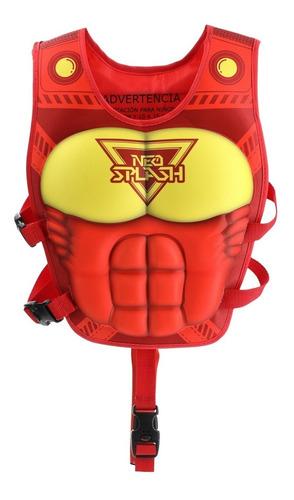Flotador Niño Super Neohero Red Power De Neo Splash